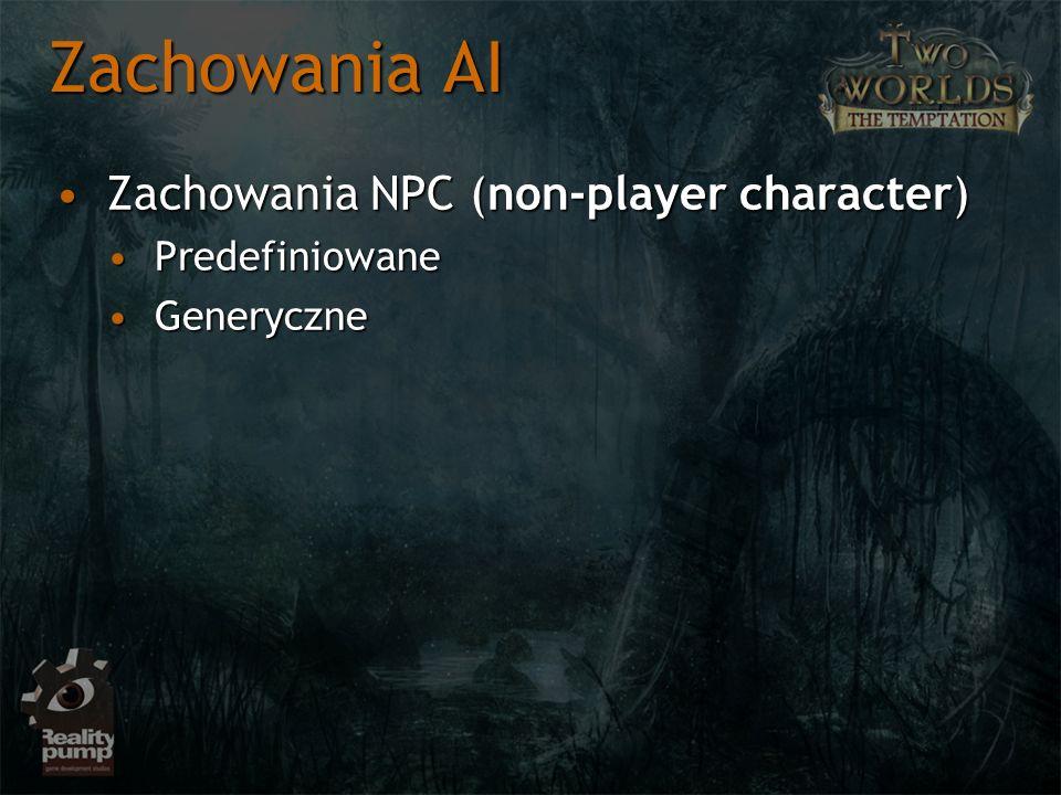 Zachowania AI Zachowania NPC (non-player character) Predefiniowane