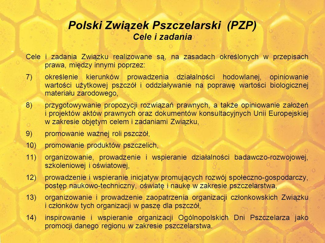 Polski Związek Pszczelarski (PZP) Cele i zadania