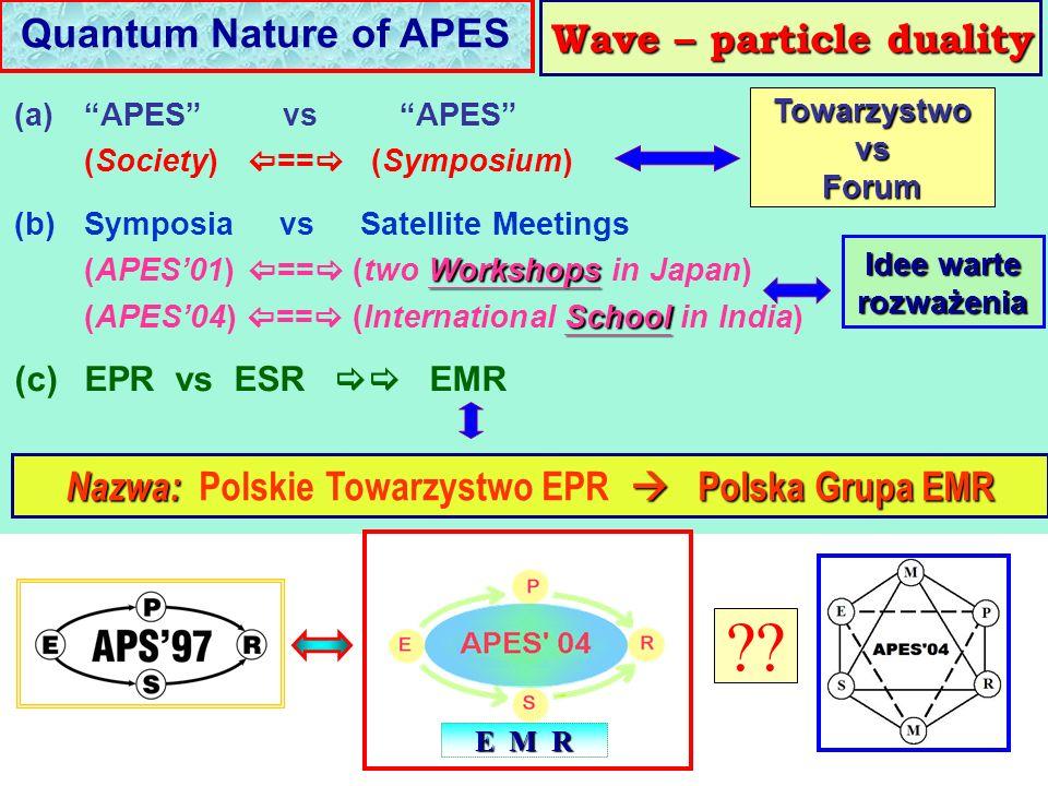 Nazwa: Polskie Towarzystwo EPR  Polska Grupa EMR