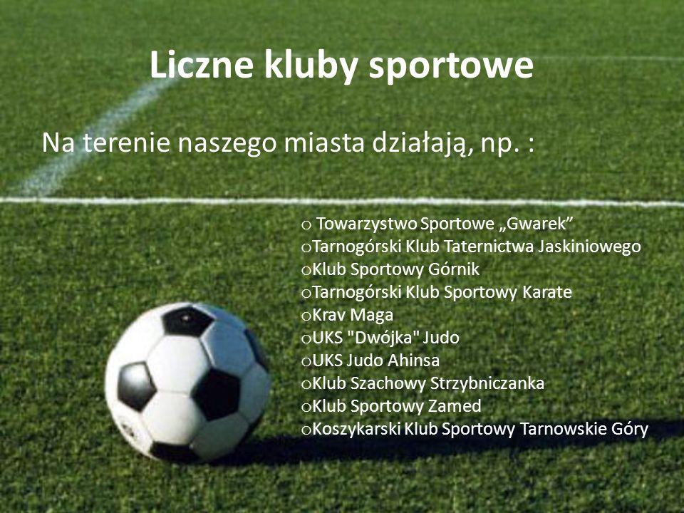 Liczne kluby sportowe Na terenie naszego miasta działają, np. :