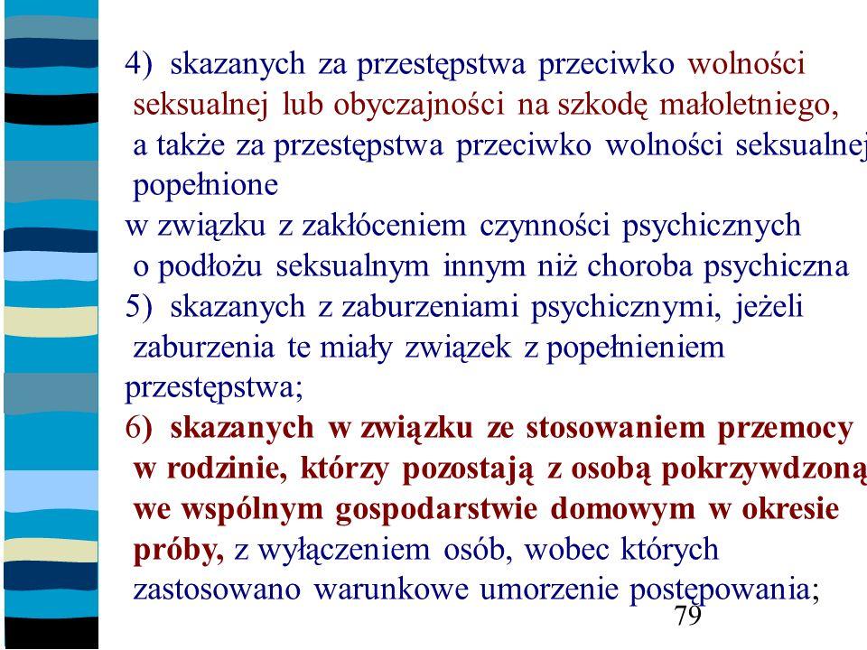 4) skazanych za przestępstwa przeciwko wolności