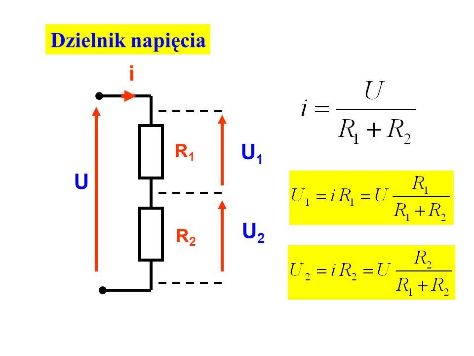 Dzielnik napięcia i R1 R2 U U1 U2