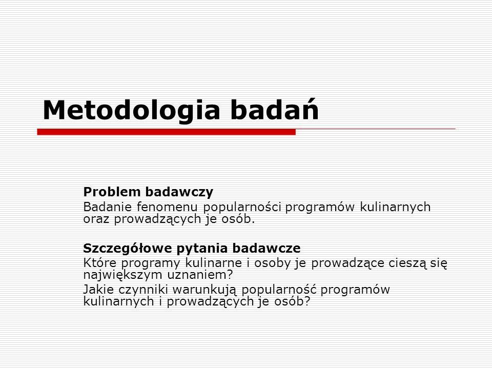 Metodologia badań Problem badawczy