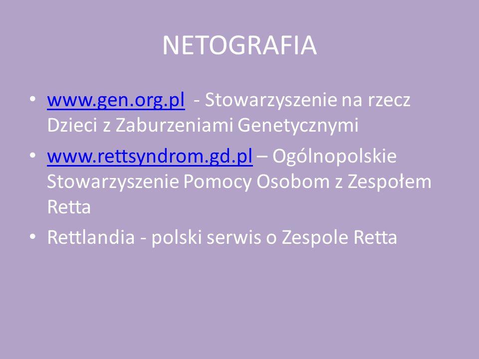 NETOGRAFIA www.gen.org.pl - Stowarzyszenie na rzecz Dzieci z Zaburzeniami Genetycznymi.