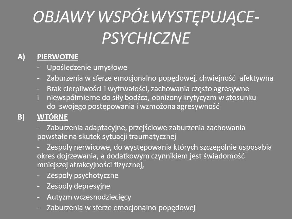 OBJAWY WSPÓŁWYSTĘPUJĄCE-PSYCHICZNE