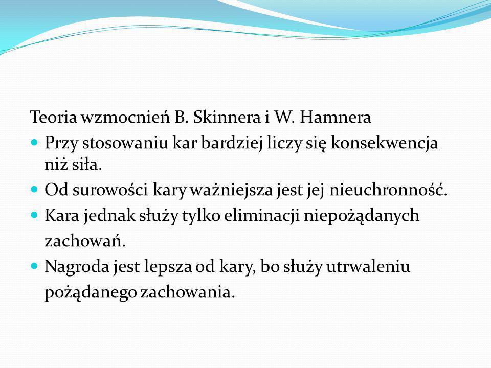 Teoria wzmocnień B. Skinnera i W. Hamnera
