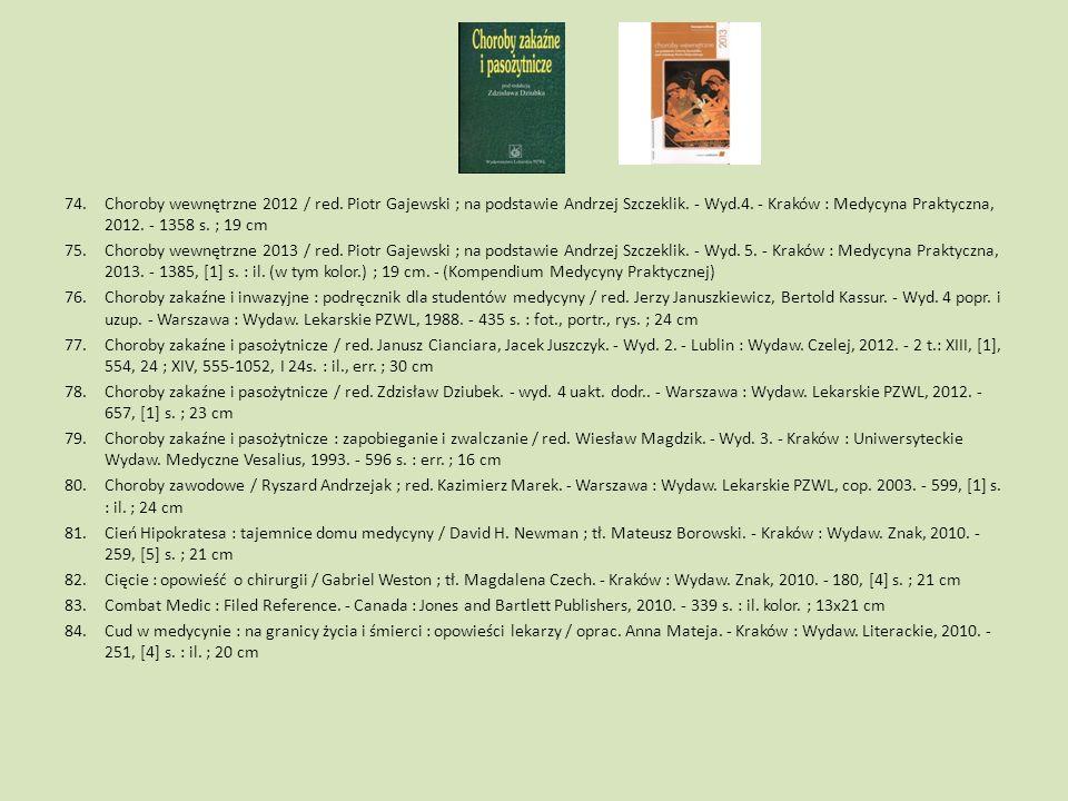 Choroby wewnętrzne 2012 / red