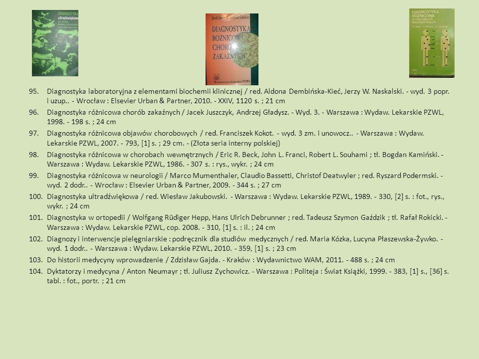 Diagnostyka laboratoryjna z elementami biochemii klinicznej / red