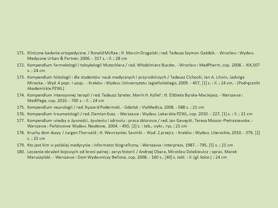 Kliniczne badanie ortopedyczne / Ronald McRae ; tł