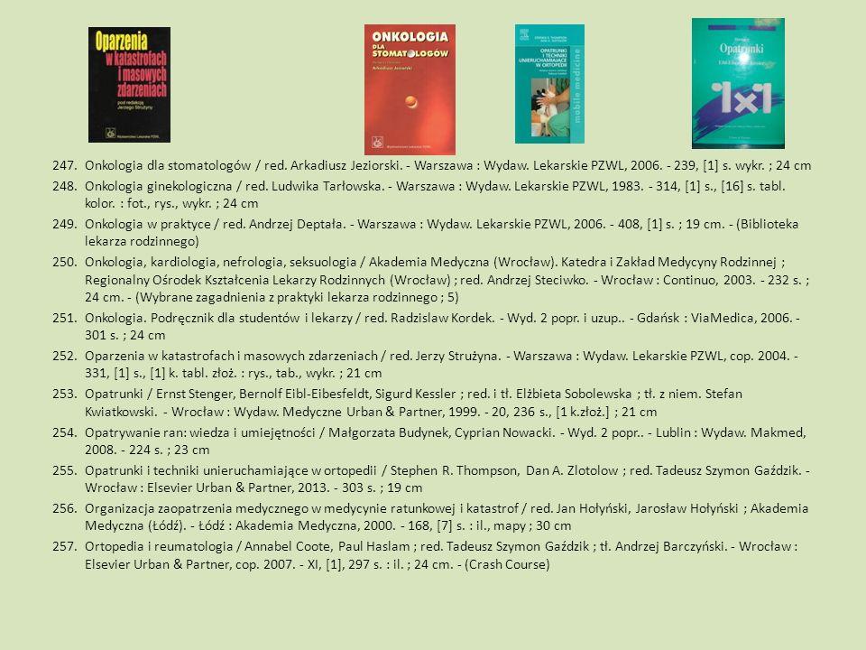 Onkologia dla stomatologów / red. Arkadiusz Jeziorski