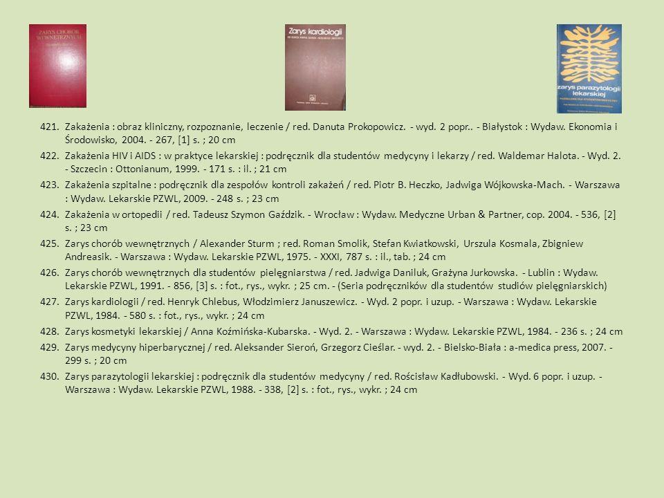 Zakażenia : obraz kliniczny, rozpoznanie, leczenie / red