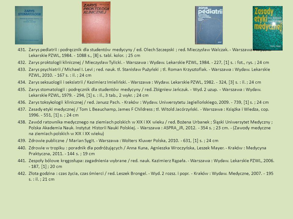 Zarys pediatrii : podręcznik dla studentów medycyny / ed