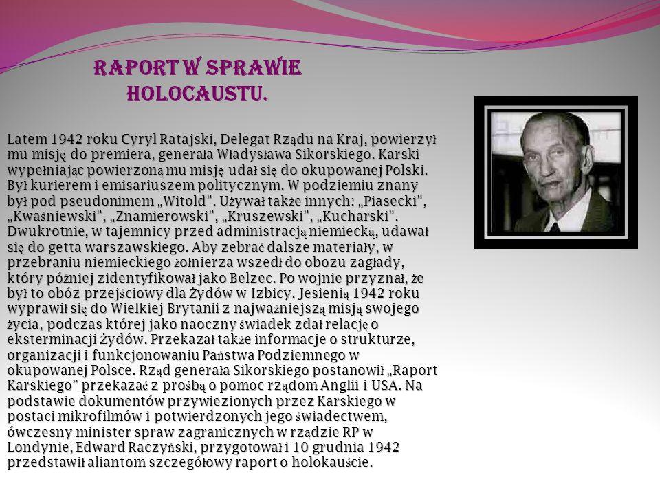 Raport w sprawie holocaustu.