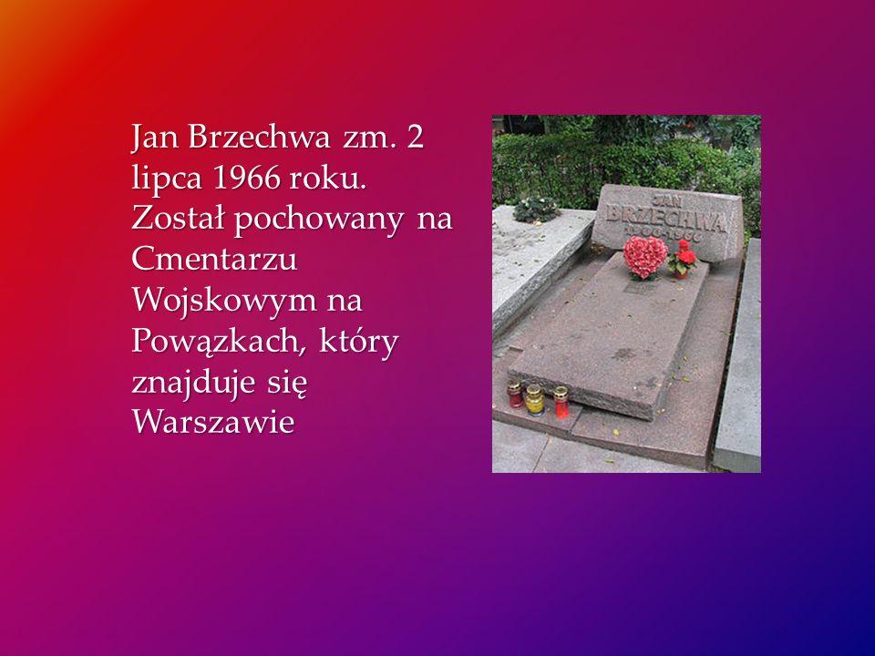 Jan Brzechwa zm. 2 lipca 1966 roku