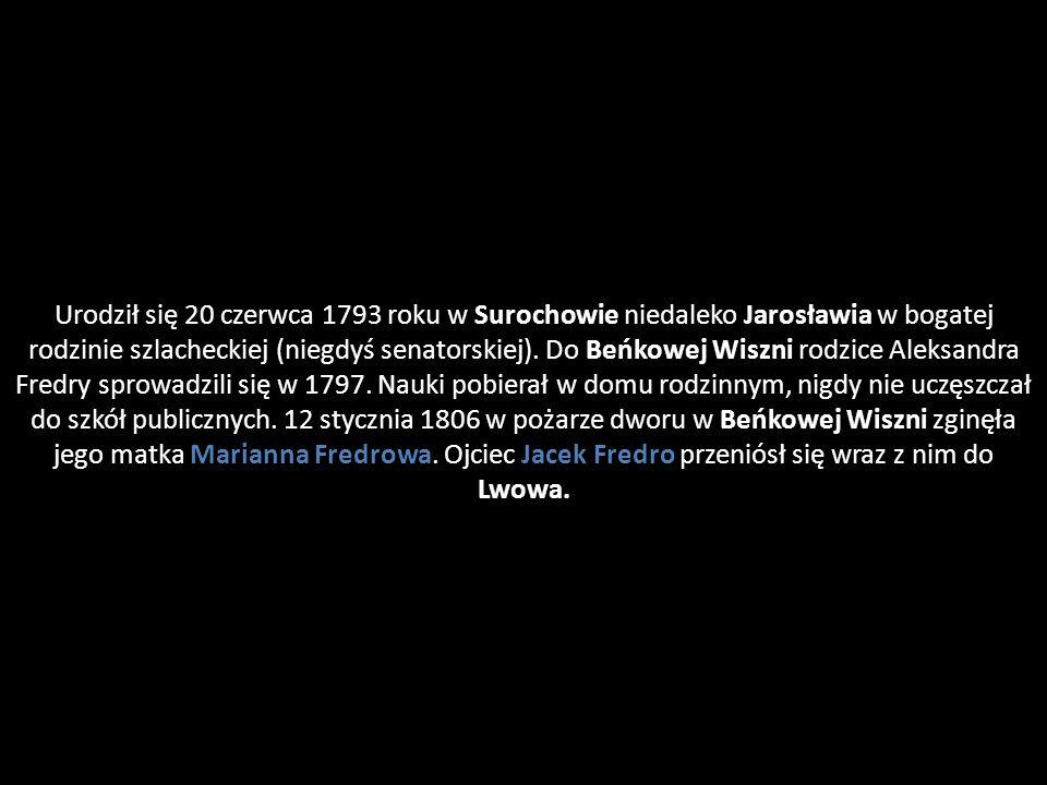 Urodził się 20 czerwca 1793 roku w Surochowie niedaleko Jarosławia w bogatej rodzinie szlacheckiej (niegdyś senatorskiej).