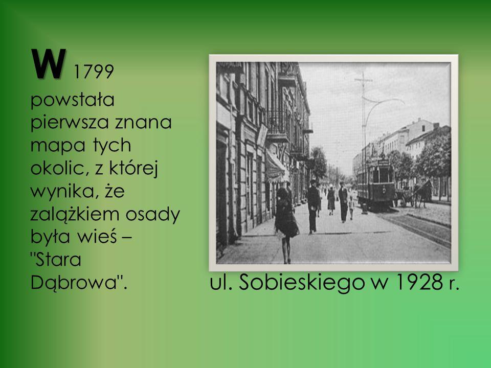 ul. Sobieskiego w 1928 r.