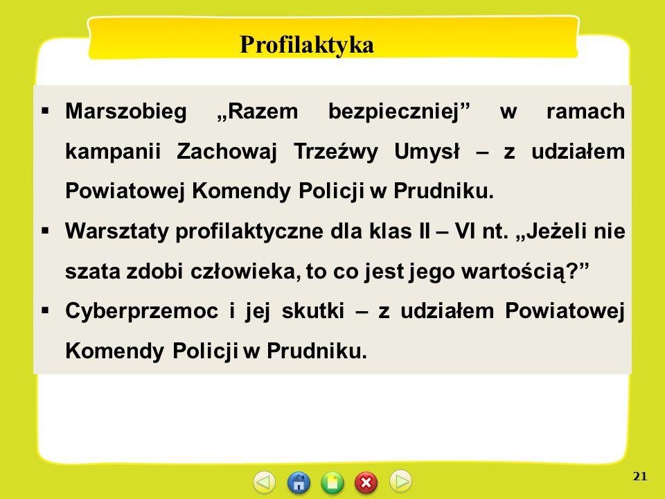 """Profilaktyka Marszobieg """"Razem bezpieczniej w ramach kampanii Zachowaj Trzeźwy Umysł – z udziałem Powiatowej Komendy Policji w Prudniku."""