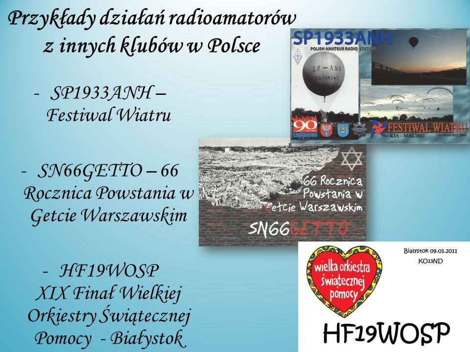 Przykłady działań radioamatorów z innych klubów w Polsce