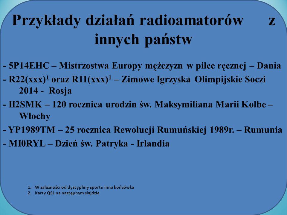Przykłady działań radioamatorów z innych państw