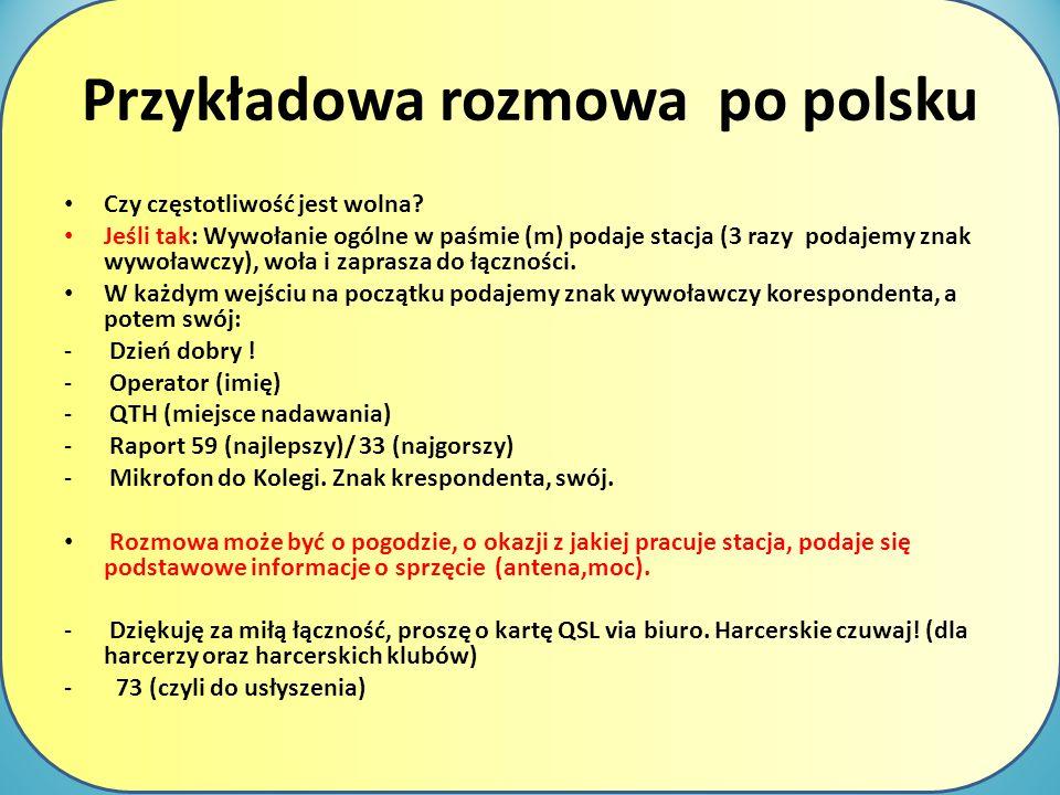 Przykładowa rozmowa po polsku