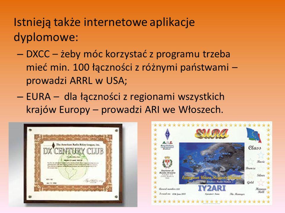 Istnieją także internetowe aplikacje dyplomowe: