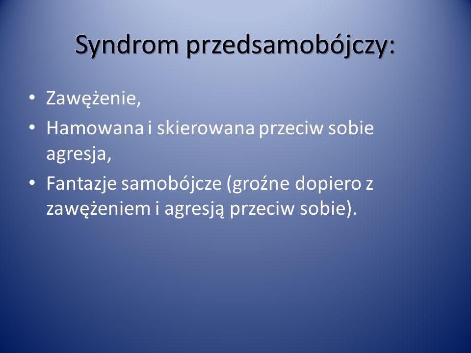 Syndrom przedsamobójczy: