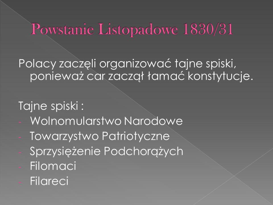Powstanie Listopadowe 1830/31