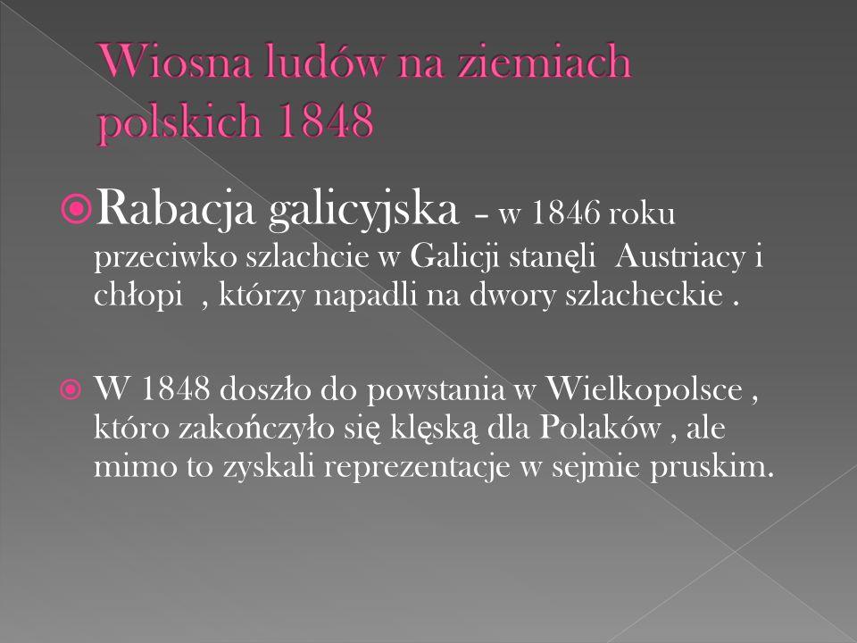 Wiosna ludów na ziemiach polskich 1848