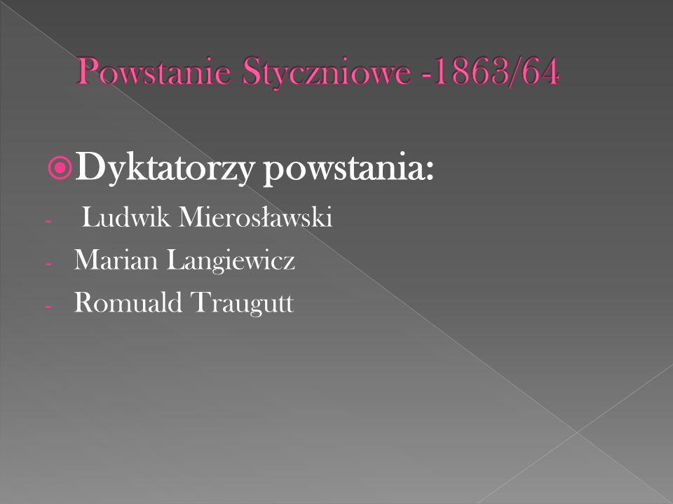 Powstanie Styczniowe -1863/64