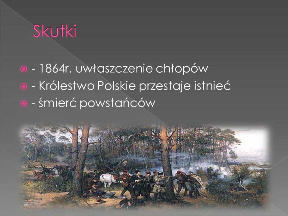 Skutki - 1864r. uwłaszczenie chłopów