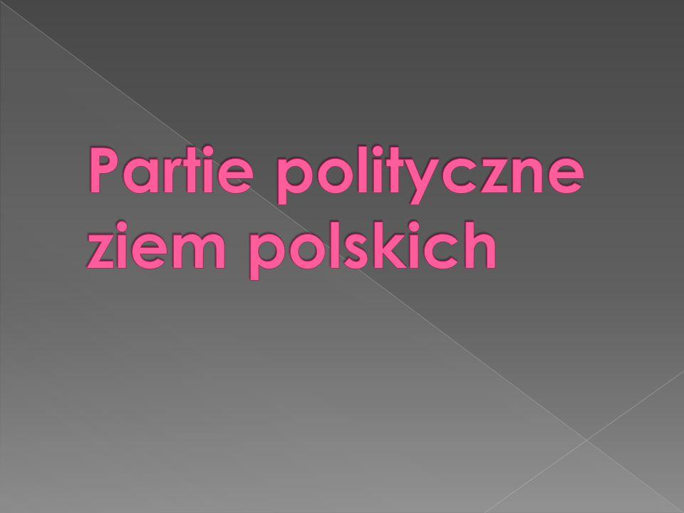 Partie polityczne ziem polskich