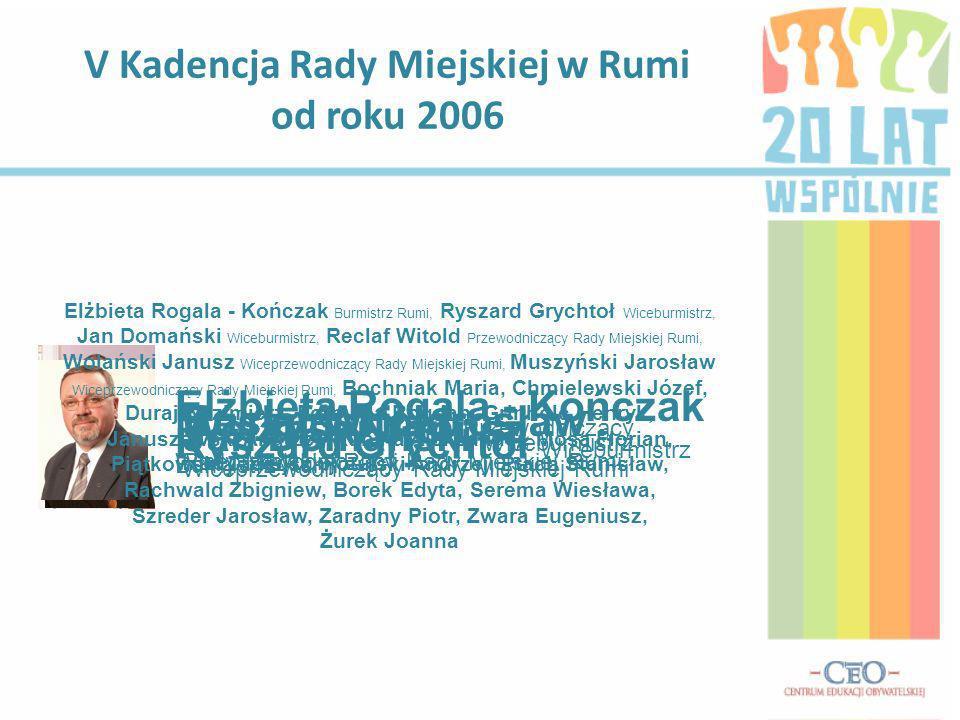 V Kadencja Rady Miejskiej w Rumi od roku 2006