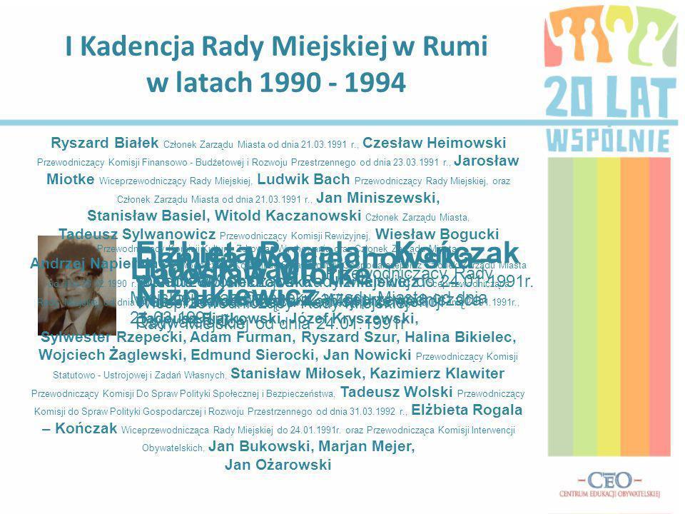 I Kadencja Rady Miejskiej w Rumi w latach 1990 - 1994