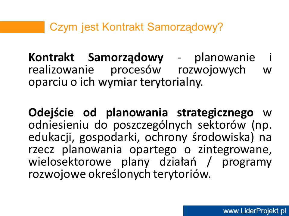 Czym jest Kontrakt Samorządowy
