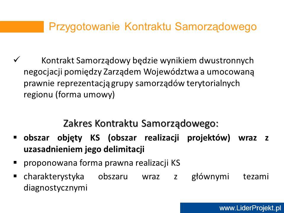 Przygotowanie Kontraktu Samorządowego