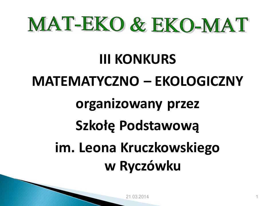 MATEMATYCZNO – EKOLOGICZNY im. Leona Kruczkowskiego w Ryczówku