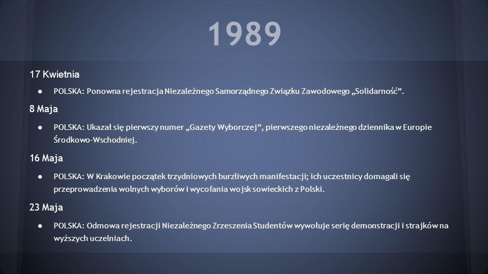 1989 17 Kwietnia 8 Maja 16 Maja 23 Maja