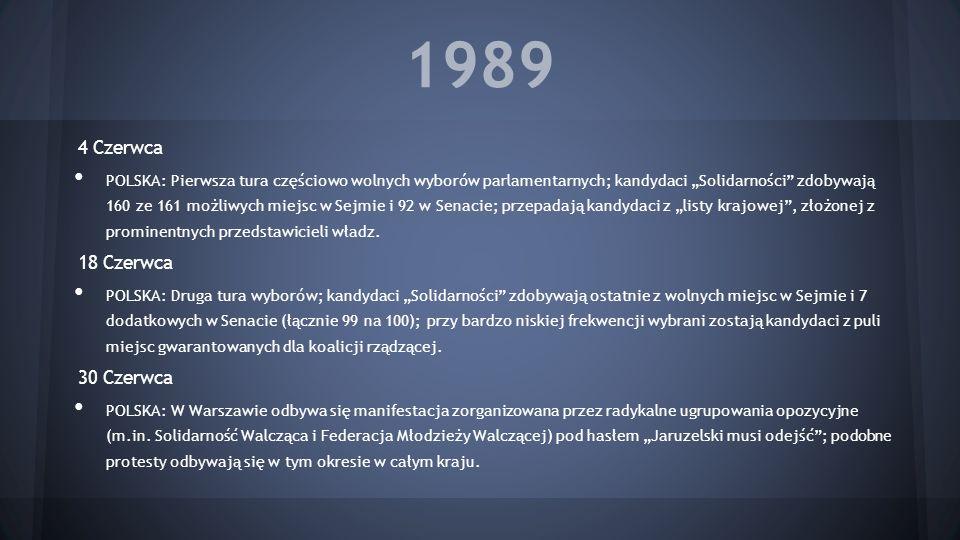 1989 4 Czerwca 18 Czerwca 30 Czerwca