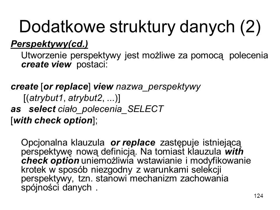 Dodatkowe struktury danych (2)