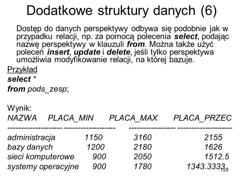 Dodatkowe struktury danych (6)