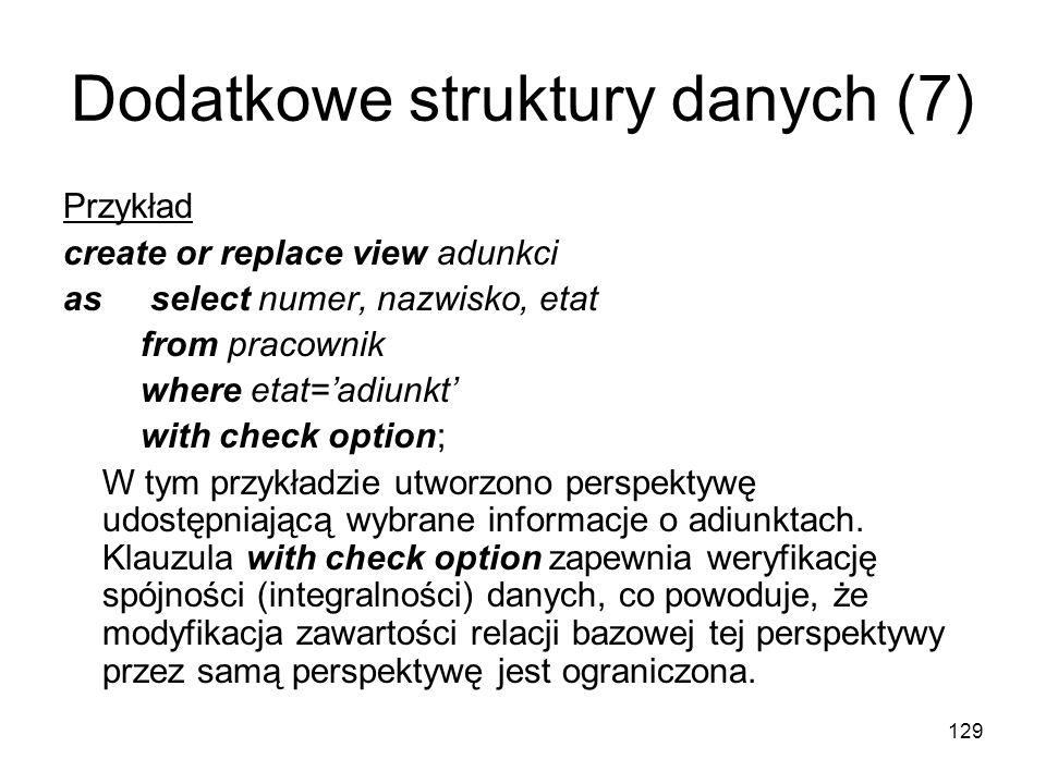 Dodatkowe struktury danych (7)