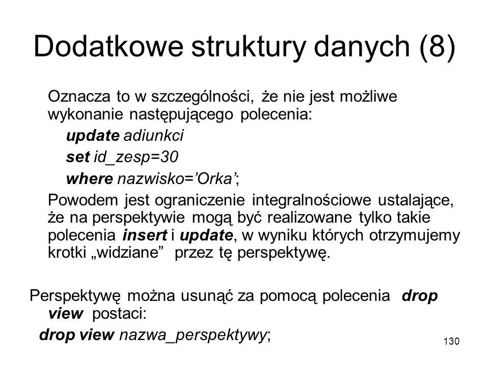 Dodatkowe struktury danych (8)