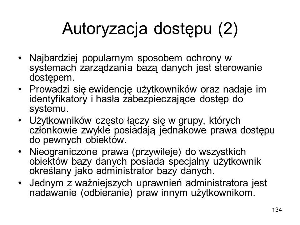 Autoryzacja dostępu (2)