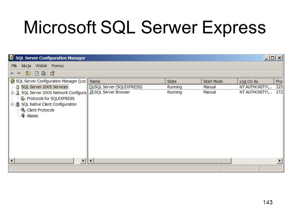 Microsoft SQL Serwer Express