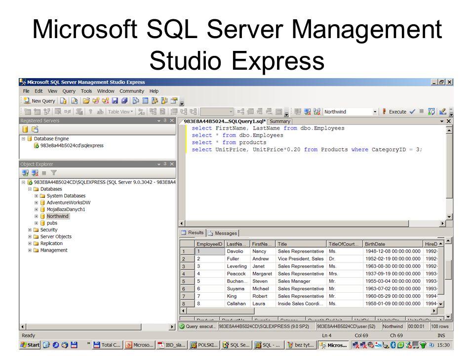 Microsoft SQL Server Management Studio Express