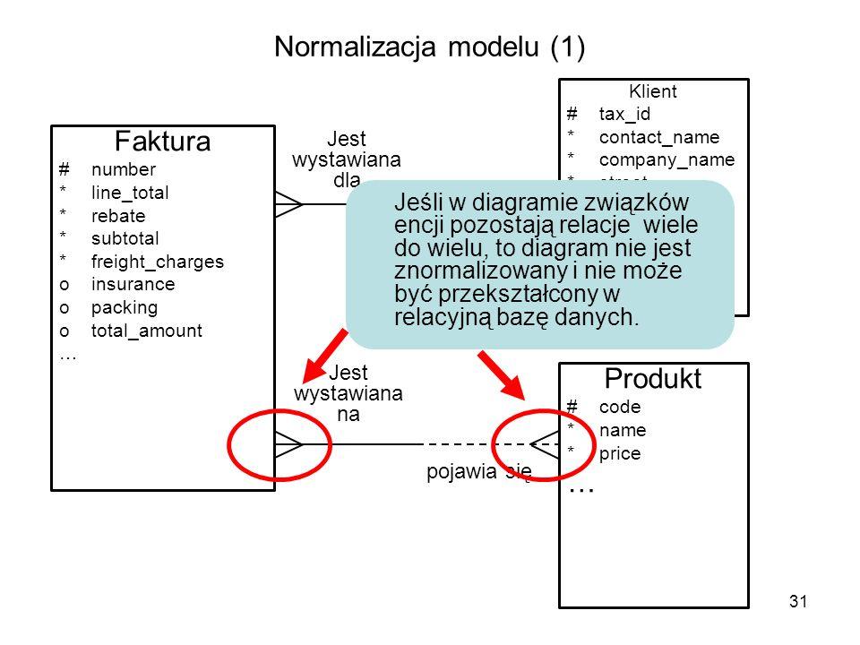 Normalizacja modelu (1)