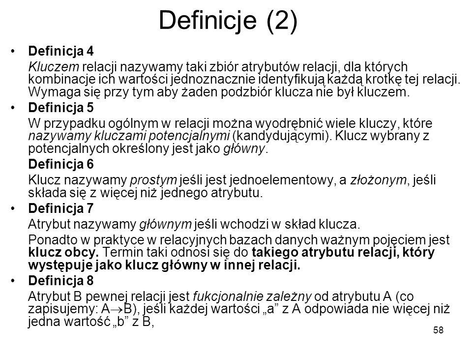 Definicje (2) Definicja 4