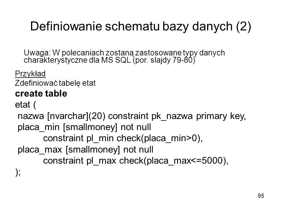 Definiowanie schematu bazy danych (2)