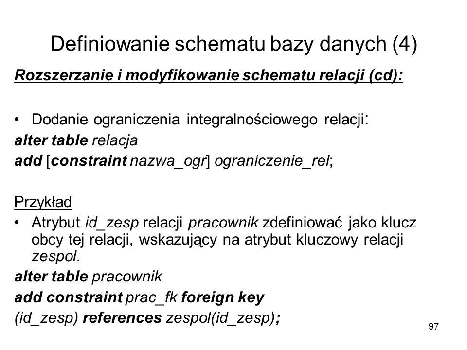Definiowanie schematu bazy danych (4)
