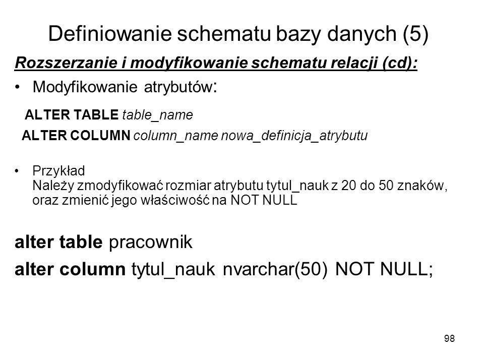 Definiowanie schematu bazy danych (5)